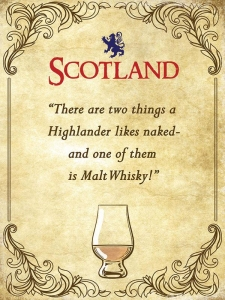 "Metalowa tabliczka retro 15 x 20 cm ""Scotland Highlander Quote"""