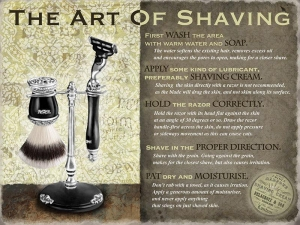 "Metalowa tabliczka retro 15 x 20 cm ""Art of Shaving"""