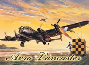 "Metalowa tabliczka retro 15 x 20 cm ""Avro Lancaster Yellow"""