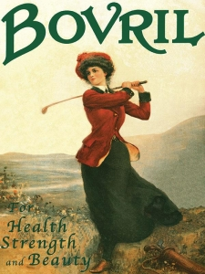 "Metalowa tabliczka retro 30 x 40 cm ""Bovril - Health Streangth & Beauty"""