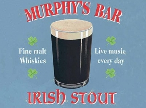 "Metalowa tabliczka retro 30 x 40 cm ""Murphy's Bar - Irish Stout"""